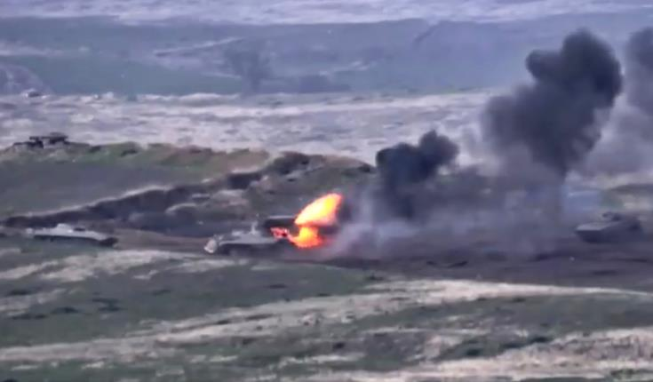 Video of 'Azerbaijani Tanks' Annihilation' Shared Online by Armenian Side